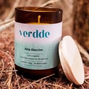 Vela Vegetal com Óleo Essencial de Alecrim Verdde 100g Aroma estimulante e restaurador