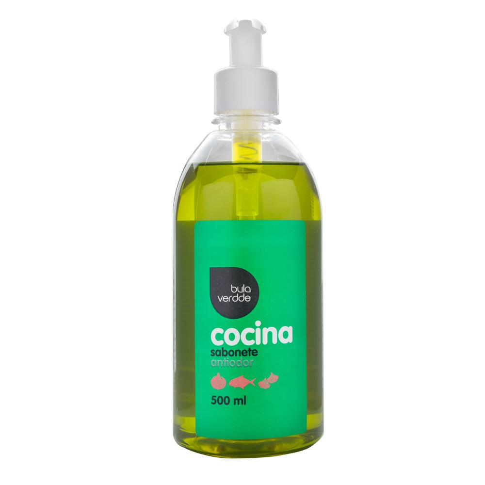 Cocina Sabonete Antiodor Verdde 500ml Elimina odores, hidratante e levemente perfumado