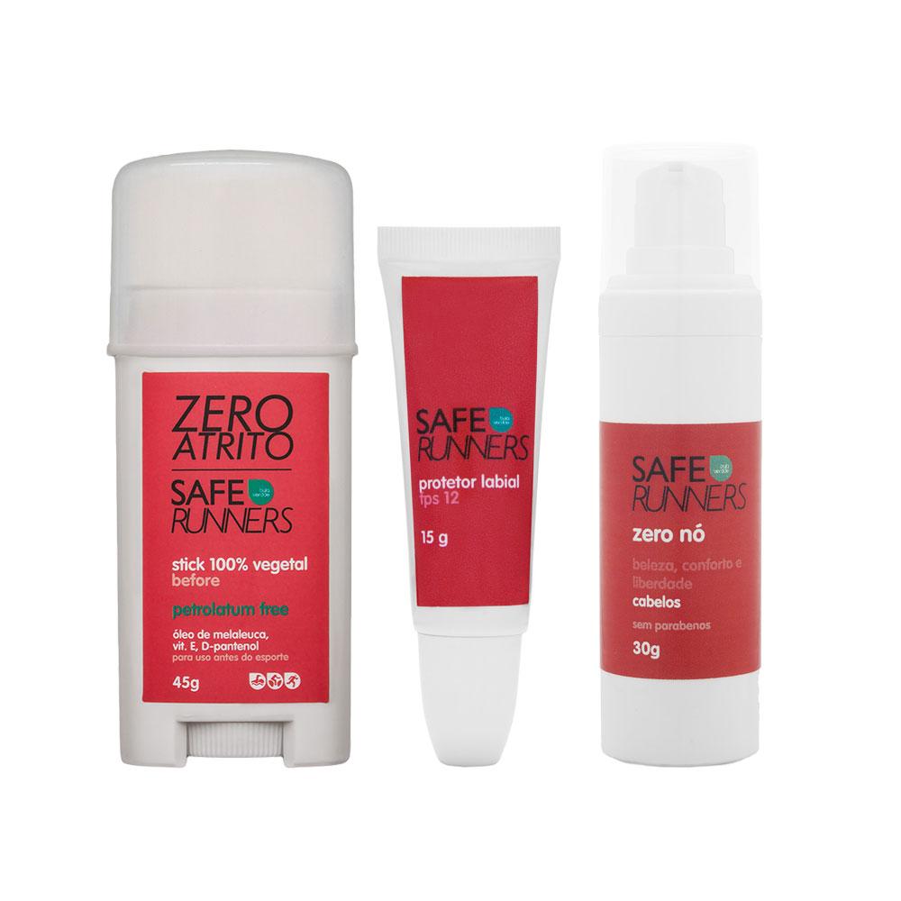 Kit Mulheres no TRI - Stick Zero Atrito + Protetor Labial + Zero Nó