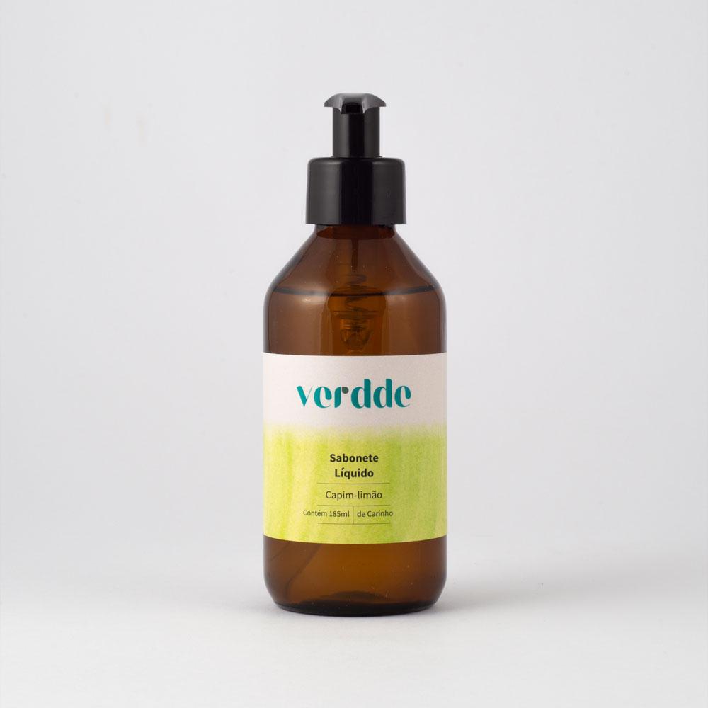Sabonete Líquido de Capim Limão Verdde 185ml Aroma relaxante e harmonioso
