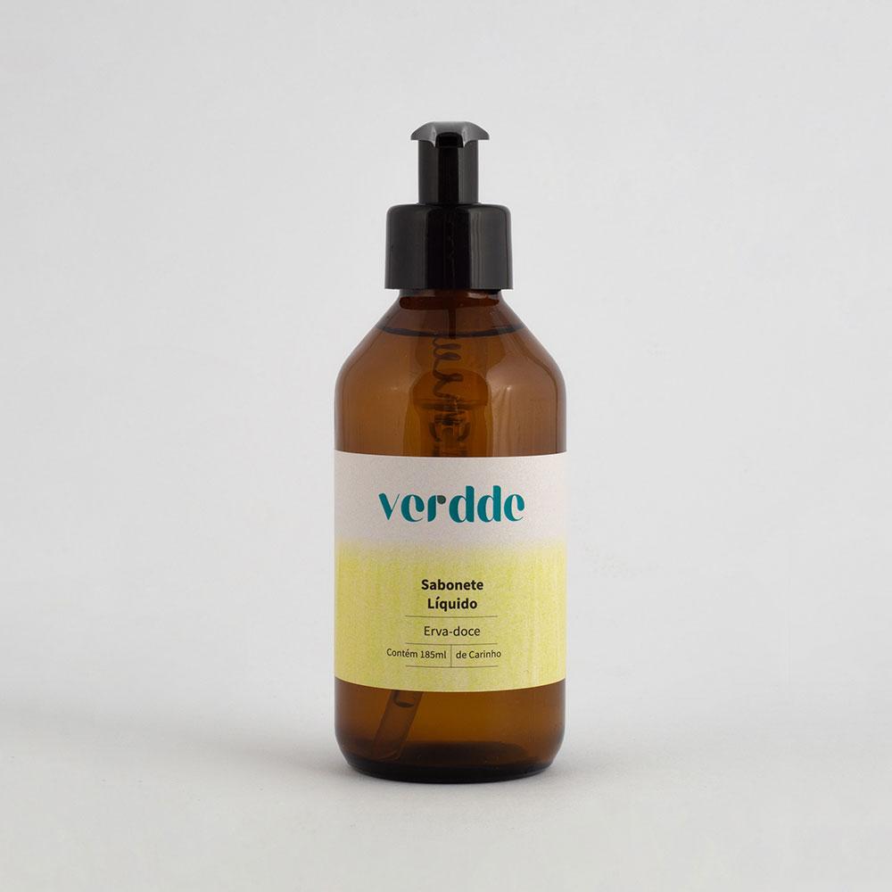 Sabonete Líquido de Erva Doce 185ml Hidratante com extrato vegetal