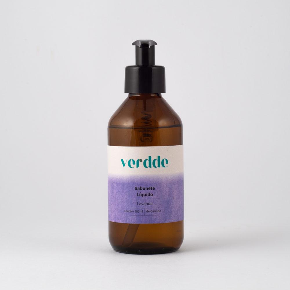 Sabonete Líquido de Lavanda Verdde 185ml Aroma  calmante e relaxante