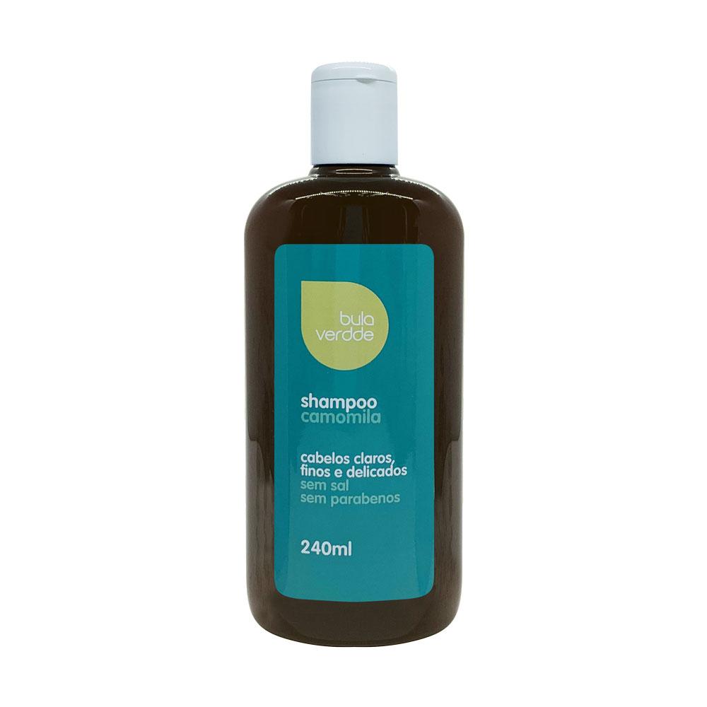 Shampoo de Camomila Verdde 240ml Hidratação, brilho e leveza