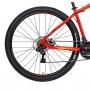 Bicicleta Mtb OX Hard Glide Aro 29 2021 - Vermelho e Vinho