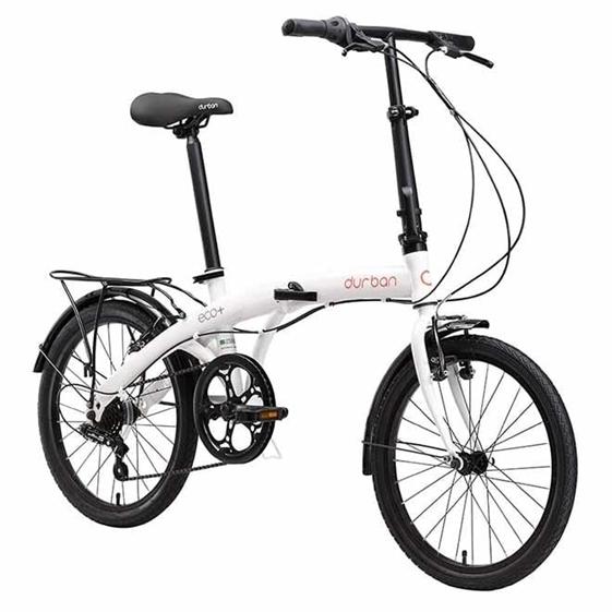 Bicicleta Dobrável Durban Eco+ 2021 - Branco