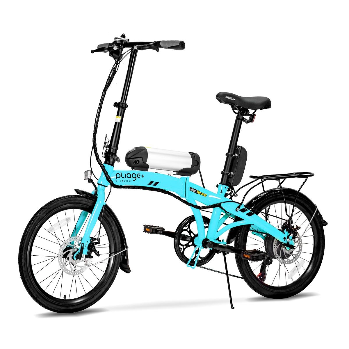 Bicicleta Dobrável Pliage Elétrica 350w Two Dogs Shimano 7v