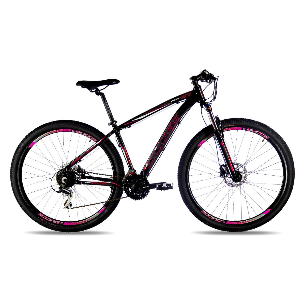 Bicicleta Mtb Ducce Vision GT X3 Aro 29 - Preto e Vermelho