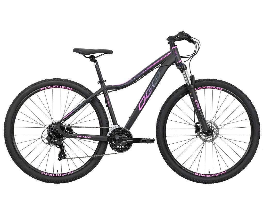 Bicicleta Mtb Feminina Oggi Float 5.0 HDS 24V 2021 - Preto E Pink