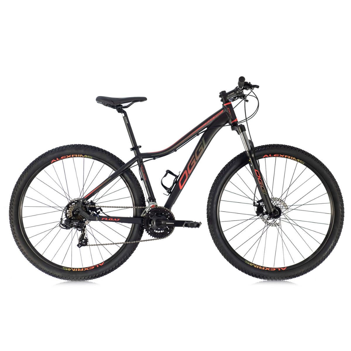 Bicicleta Mtb Feminina Oggi Float Sport 2021 Preto Vermelho e Amarelo