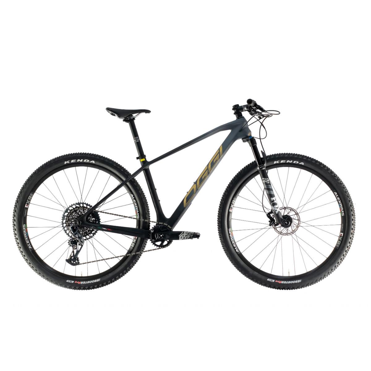 Bicicleta Mtb Oggi Ágile Pro GX 12v 2021 - Grafite Preto e Dourado