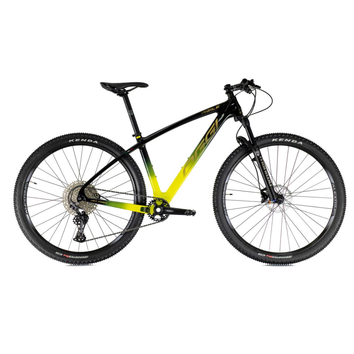 Bicicleta Mtb Oggi Ágile Sport Deore 12V 2021 - Preto e Amarelo