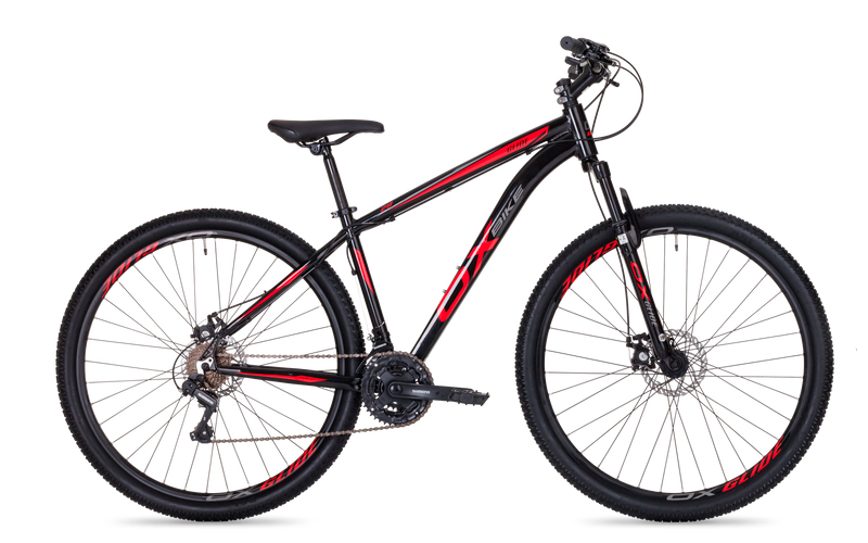 Bicicleta Mtb OX Hard Glide Aro 29 2021 - Preto e Vermelho