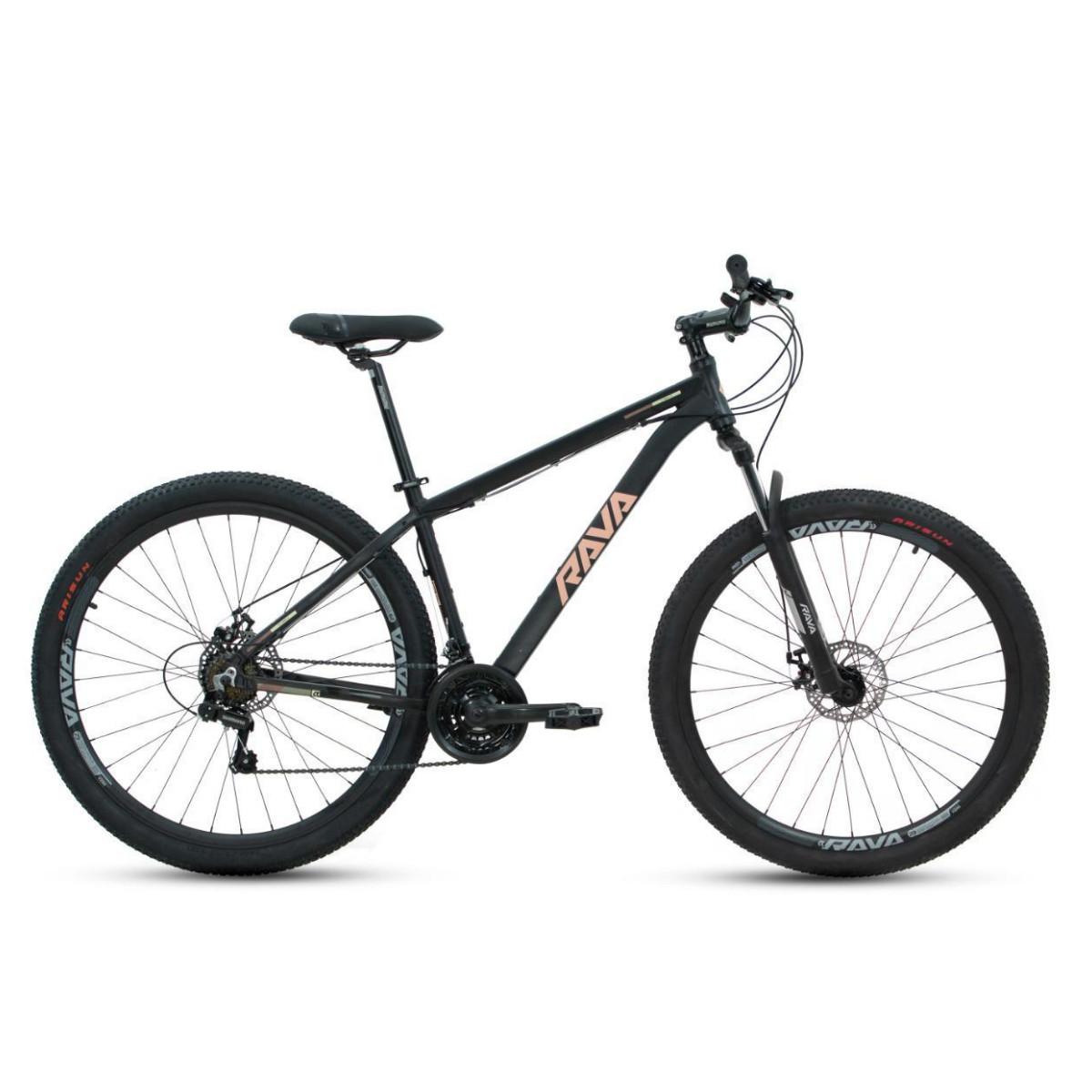 Bicicleta Mtb Rava Pressure 21V 2021 - Preto e Salmão