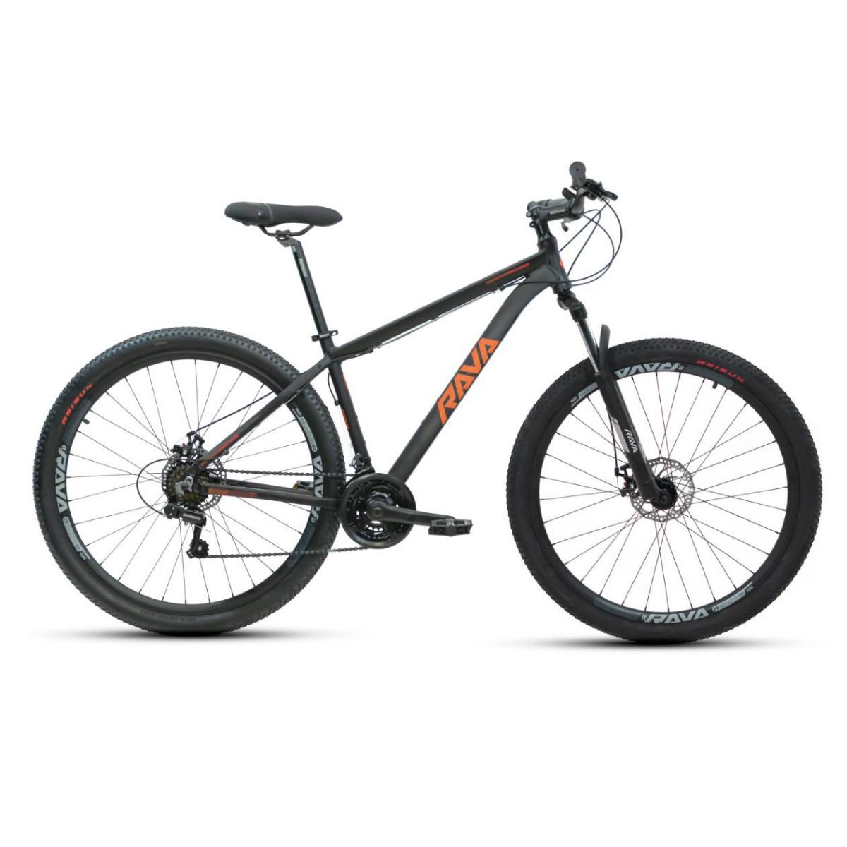Bicicleta Mtb Rava Pressure 21V 2021 - Preto e Vermelho