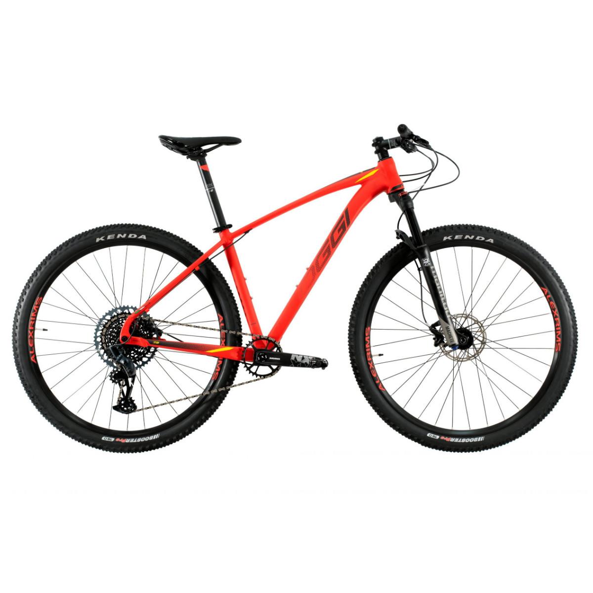 Bicicleta Oggi Big Wheel 7.5 NX/GX 2021 -  Vermelho Preto e Amarelo