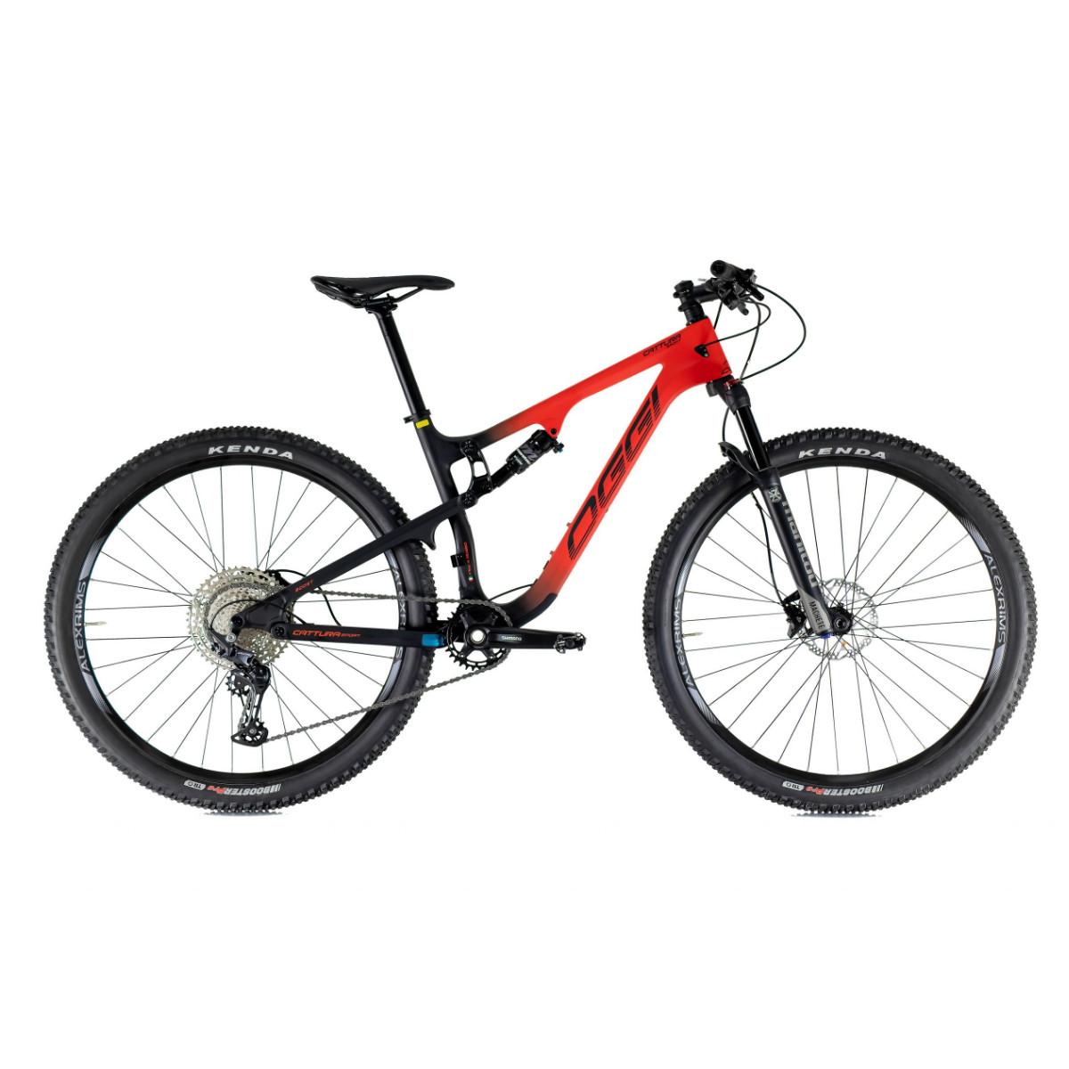 Bicicleta Oggi Cattura Sport Full Suspension Carbon Deore 2021 - Vermelho e Preto