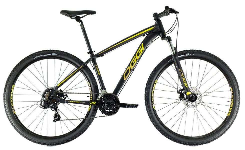 Bicicleta Oggi Hacker Sport Aro 24 - Preto e Amarelo