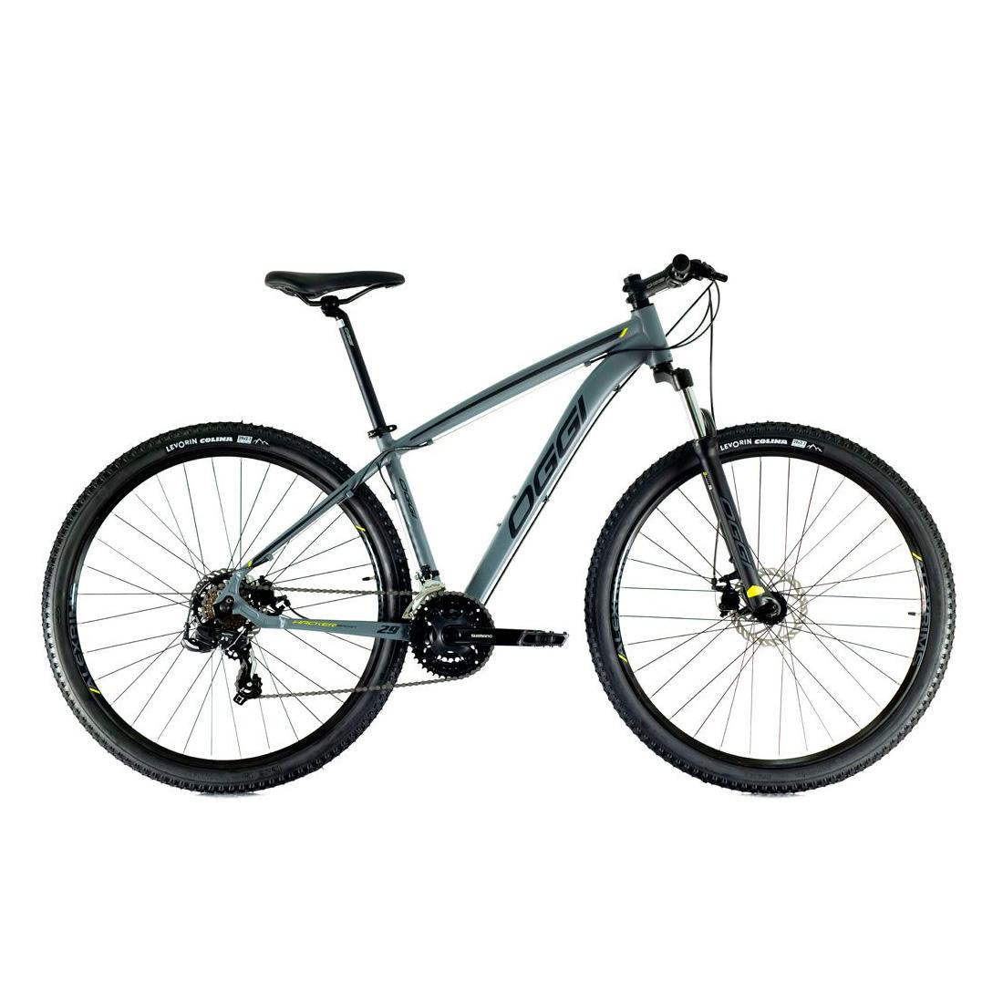 Bicicleta Oggi Hacker Sport Aro 29 2021 - Grafite Preto E Amarelo