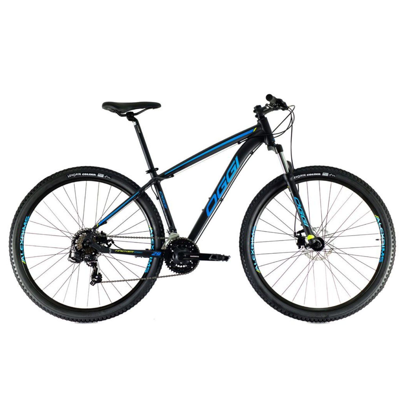 Bicicleta Oggi Hacker Sport Aro 29 2021 - Preto Azul e S-lime