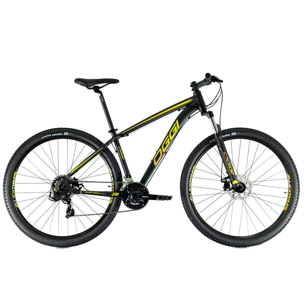 Bicicleta Oggi Hacker Sport Aro 29 2021 - Preto e Amarelo