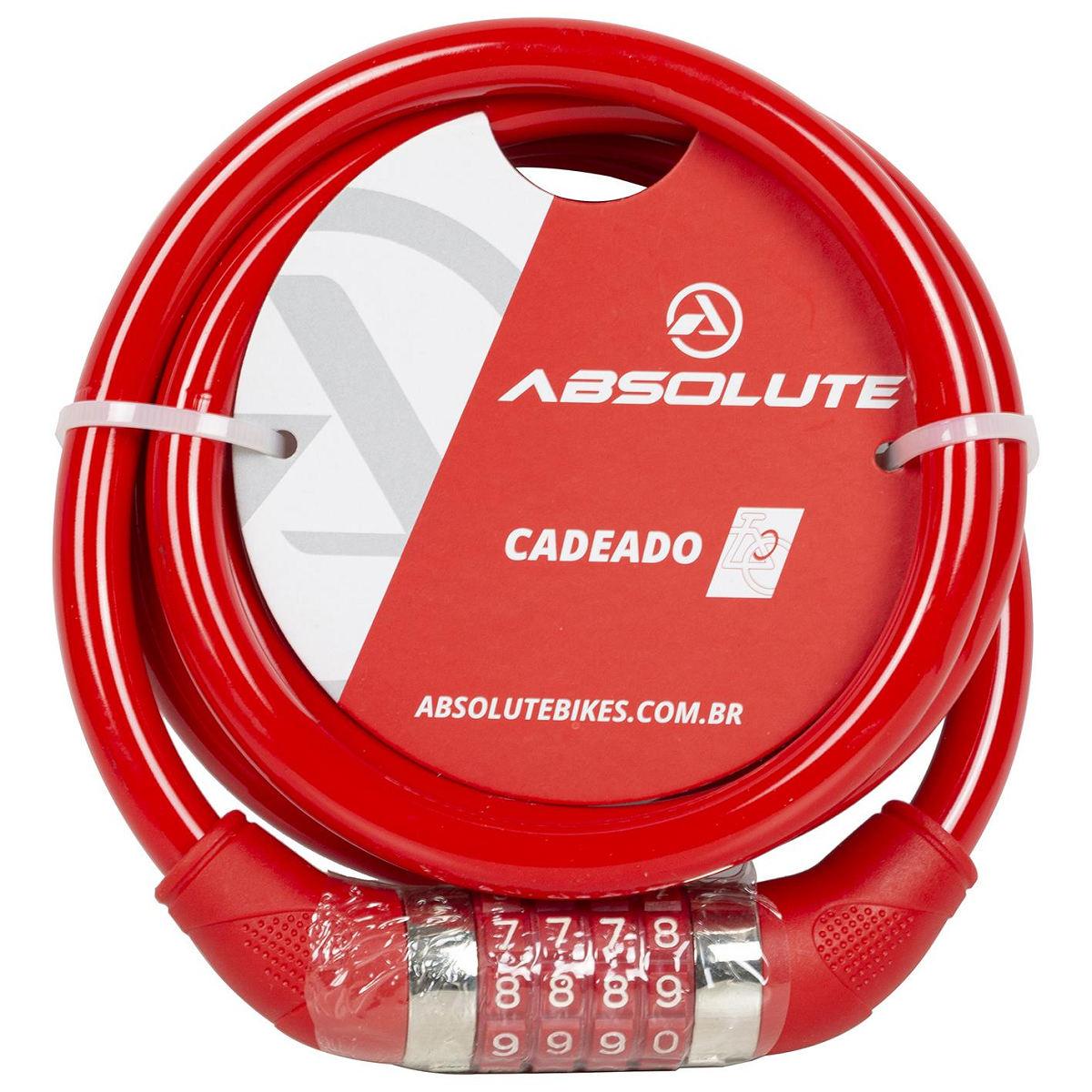 Cadeado Absolute Espiral 1,85mx12mm C Segredo Bicicleta