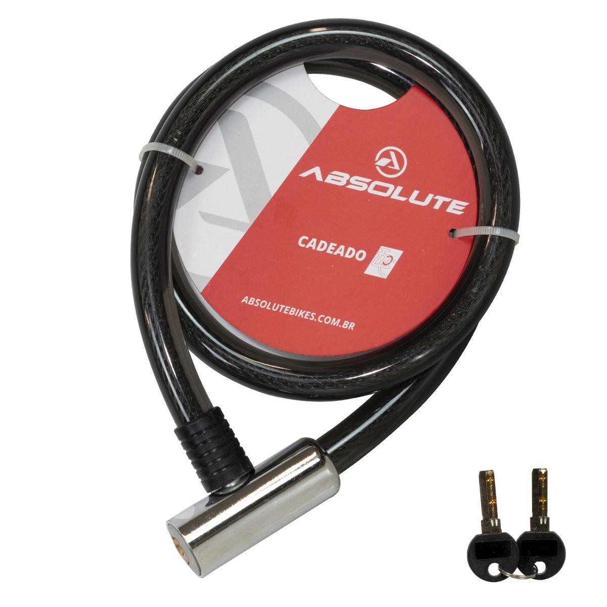 Cadeado Bike Moto Estepe Absolute 1,0mx18mm Com Chave