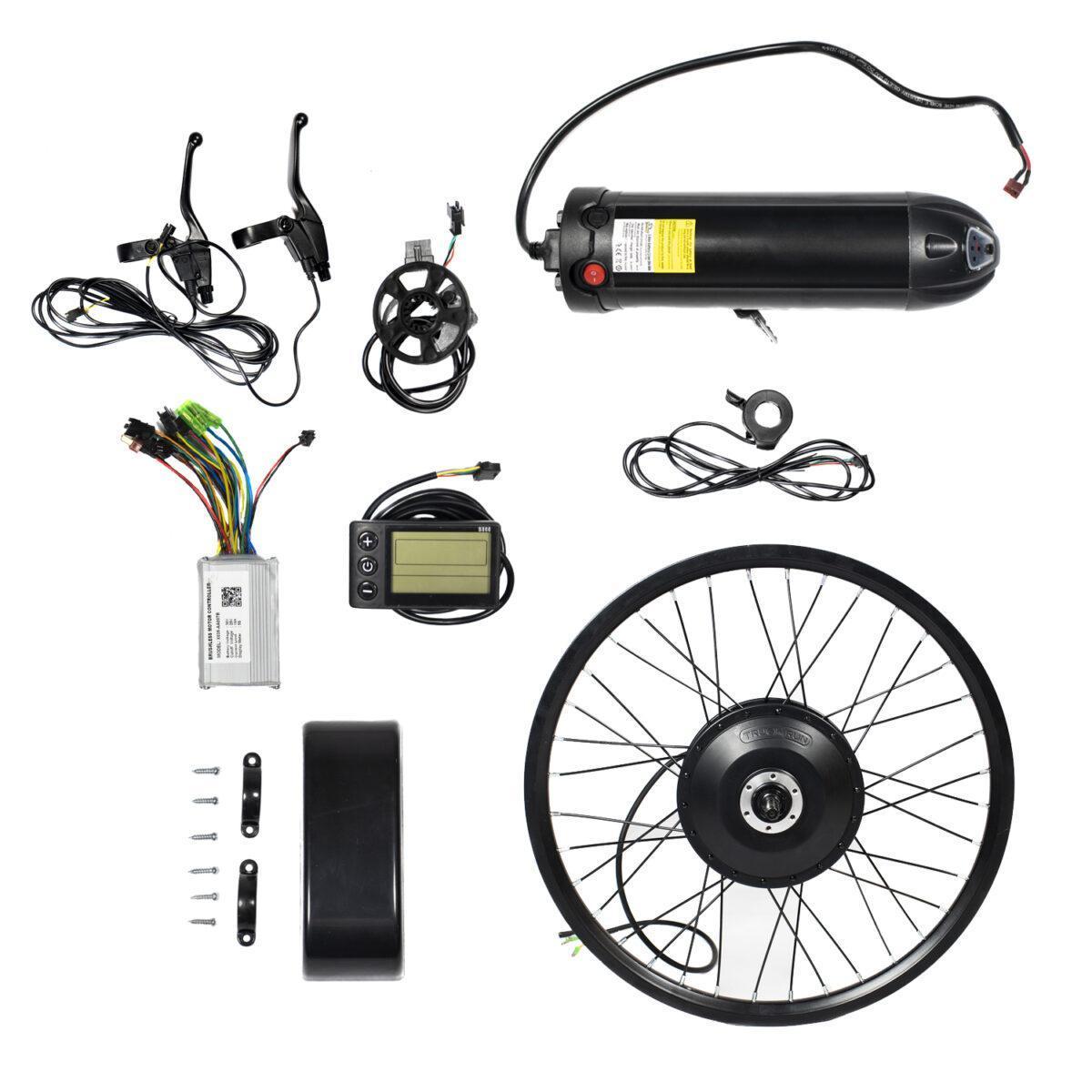 Kit Elétrico Bicicleta 350w Bateria Lítio 36v Two Dogs c/ Computador de Bordo - 2022