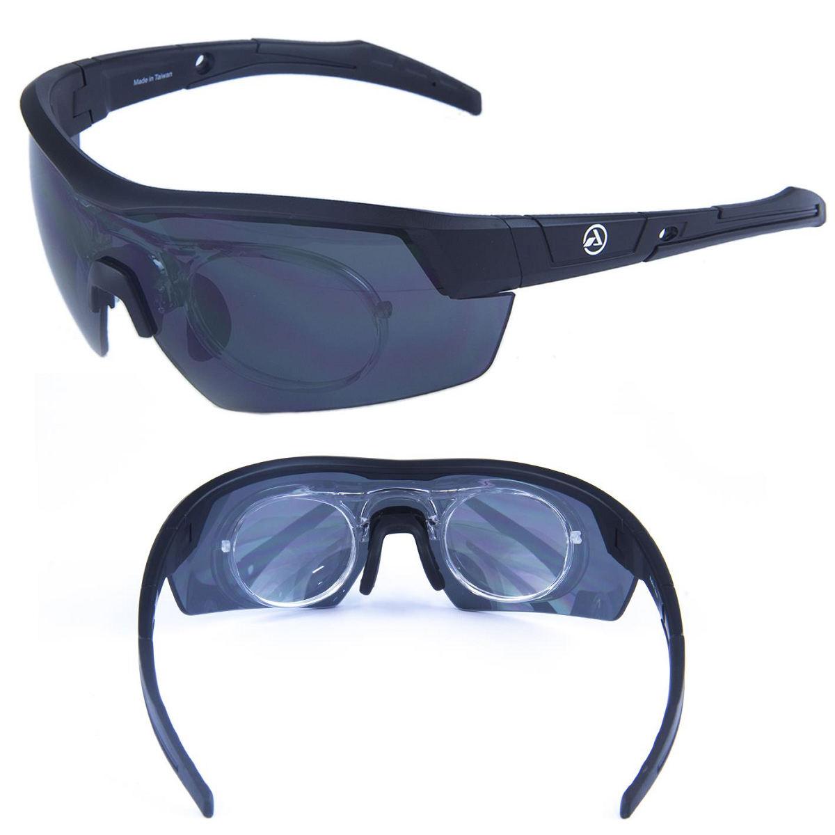 Oculos Absolute Race Rx Pto., Lente Cinza