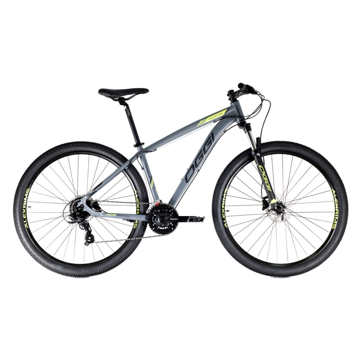 Oggi Hacker HDS 2021  - Grafite Preto E S-Lime - Mountain Bike Aro 29