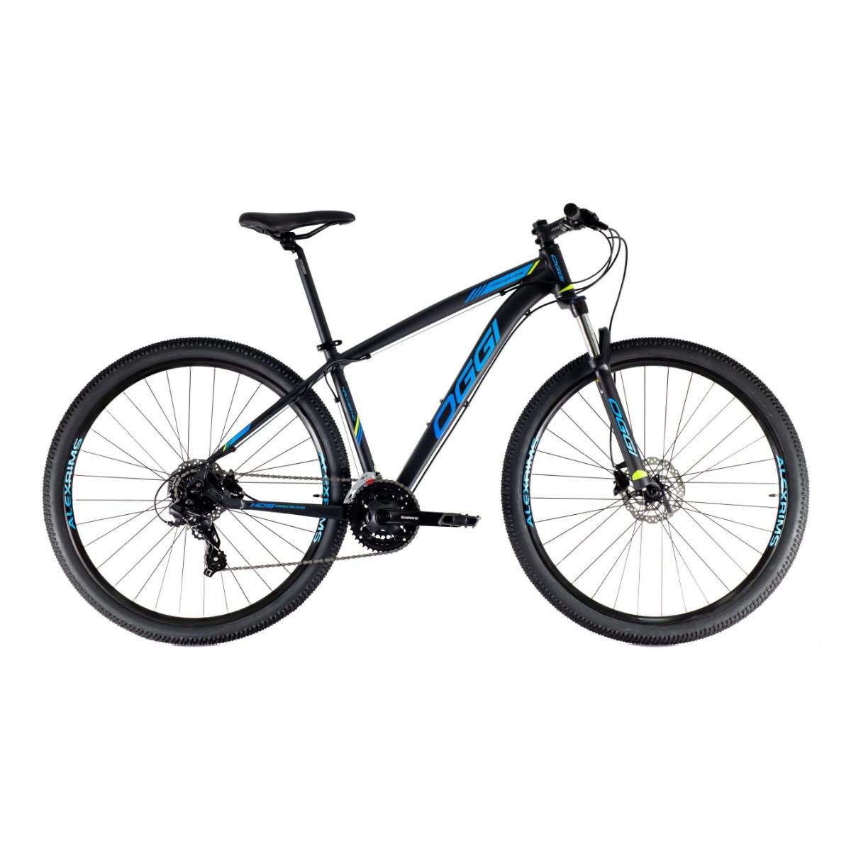 Oggi Hacker HDS 2021 Preto E Azul - Mountain Bike Aro 29