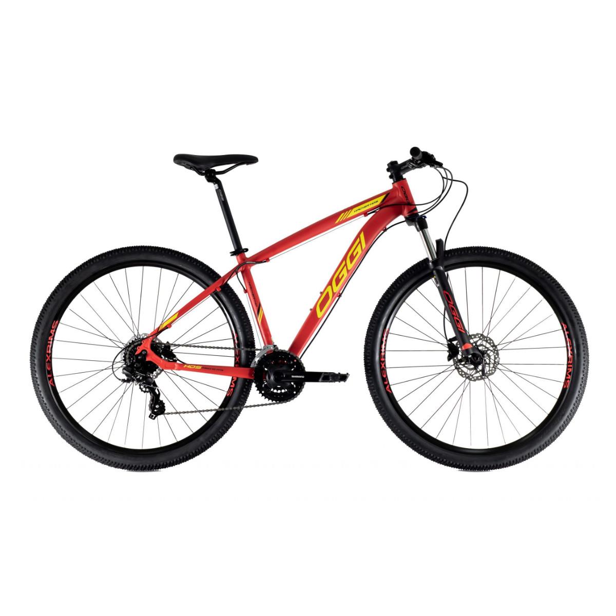 Oggi Hacker HDS 2021 - Vermelho Amarelo E Preto - Mountain Bike Aro 29