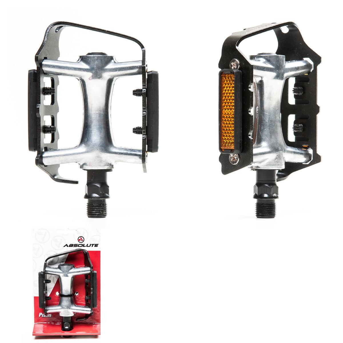 Pedal Bike Absolute Nero Mtb Plataforma Alumínio C/ Refletor 9/16