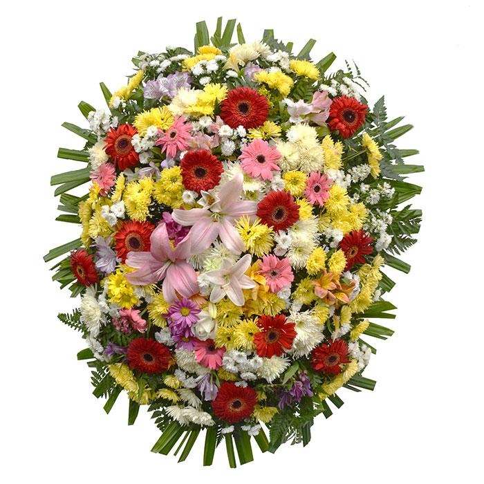 Coroa de Flores Colorida Grande