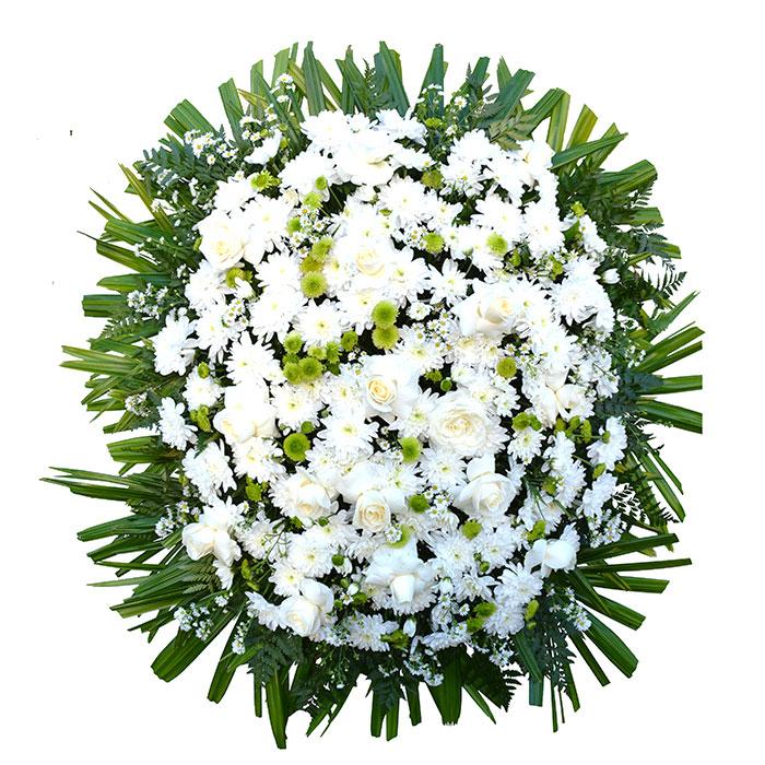 Coroa de Flores Nobre Branco