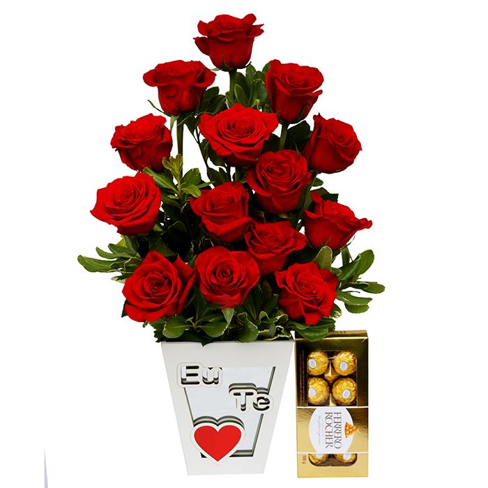 Surpresa de Rosas Vermelha Doce