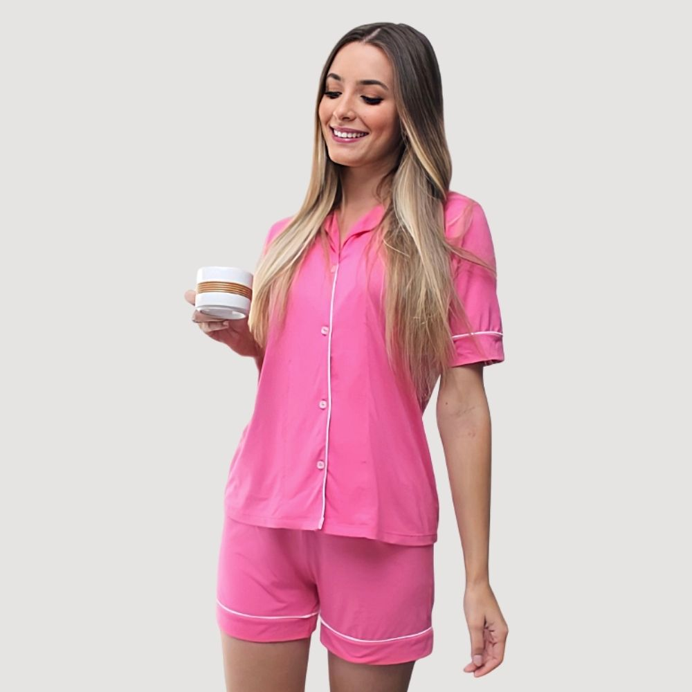 Pijama Curto em viscolycra