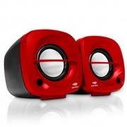Caixa De Som Speaker 2.0 3w Vermelho SP-303 - C3 Tech