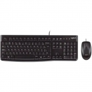 Teclado e Mouse MK120 Resistente à Água 1000DPI Preto ABNT2 - 920-004429