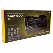 Teclado Gamer Mecanico Usb Kgm-500bk Preto C3 Tech