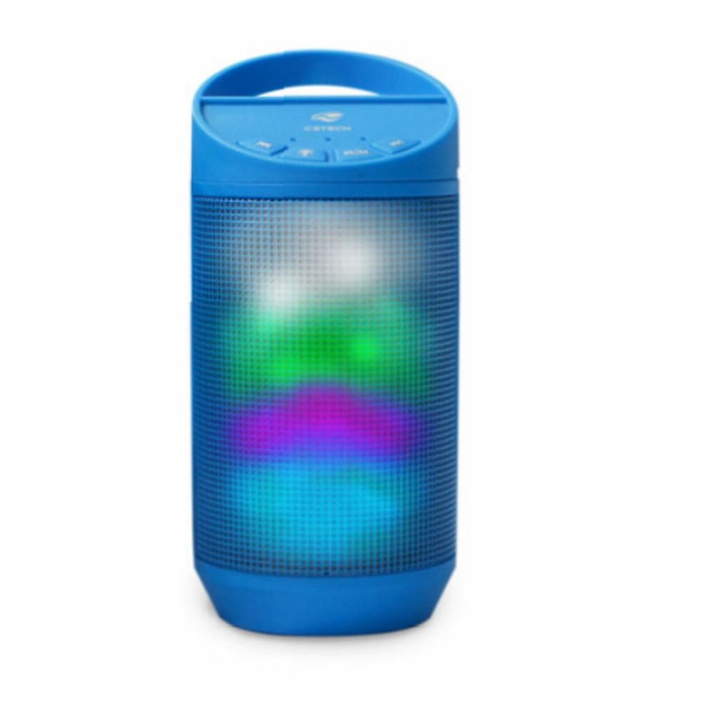 Caixa de som C3TECH beat bluetooth LED portatil 8W rms azul - SP-B50BL
