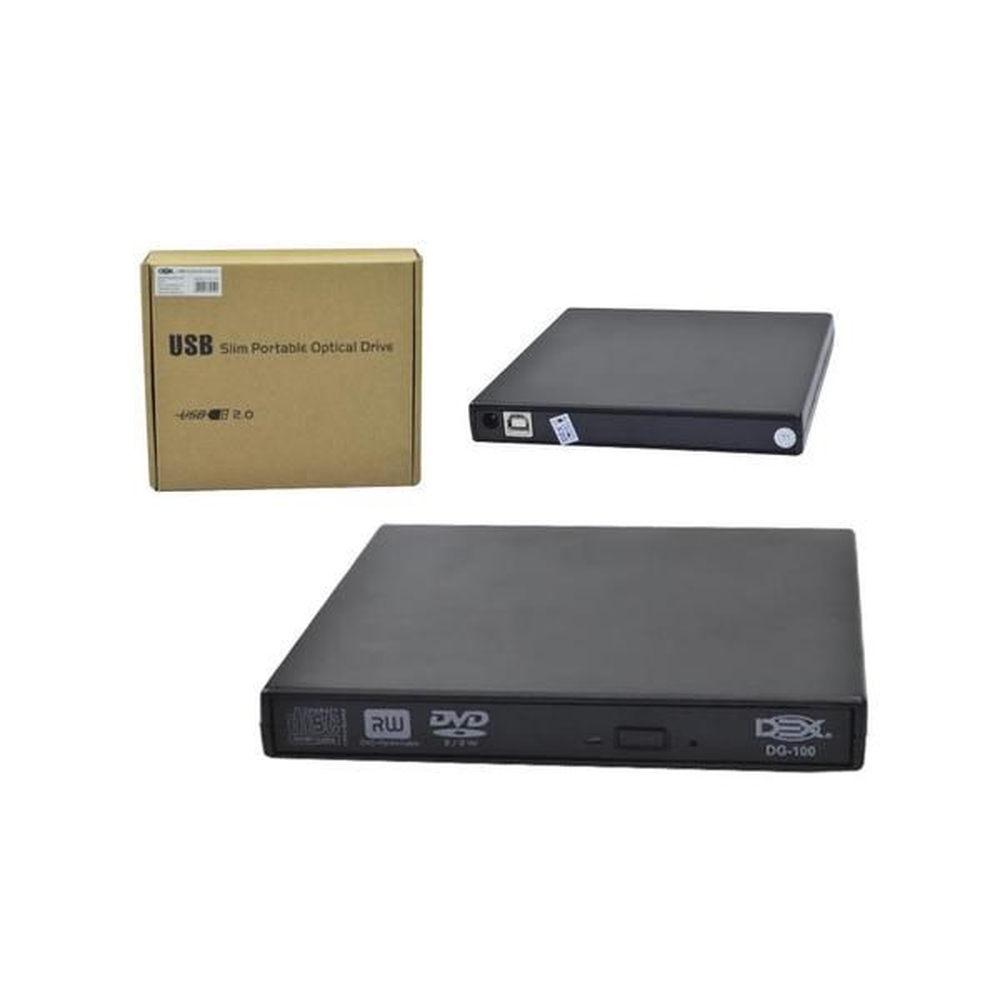 Gravador Usb Externo De Cd/Dvd Slim Dex - Dg-10