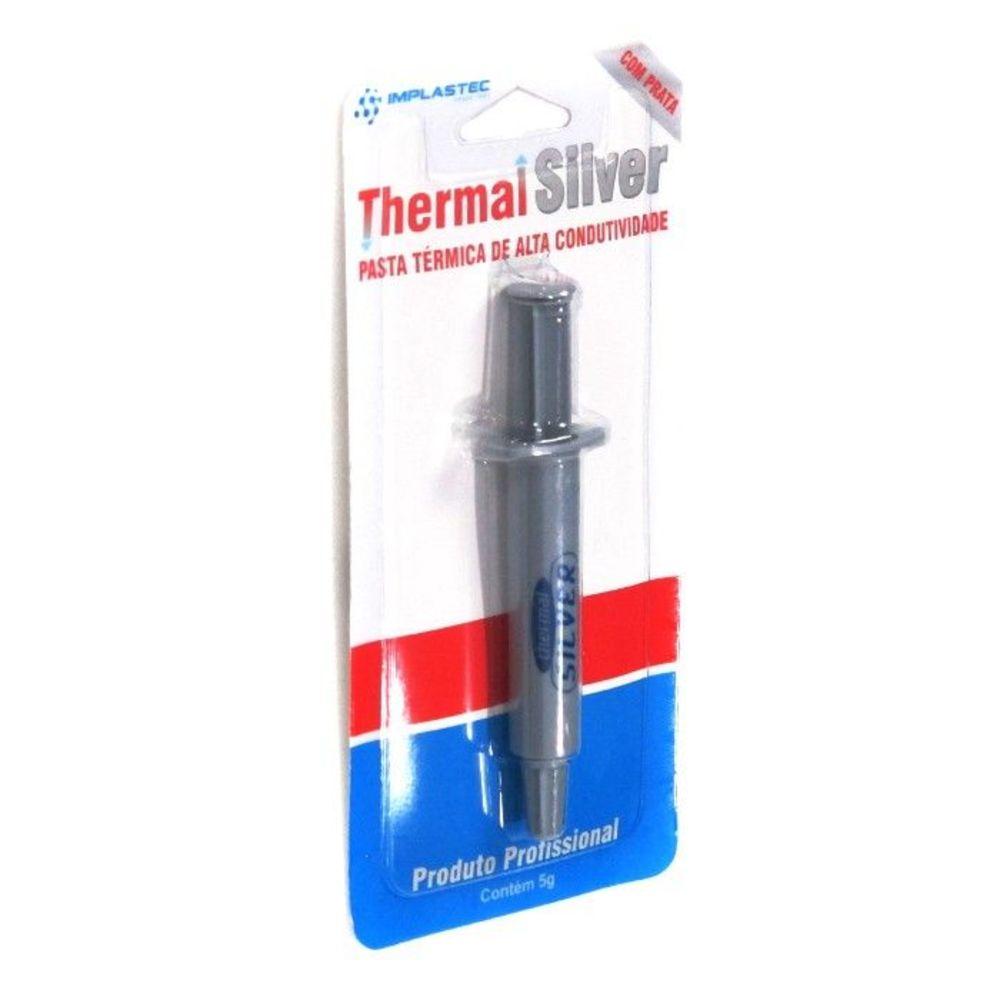 Pasta Térmica Thermal Silver Seringa 5g Implastec