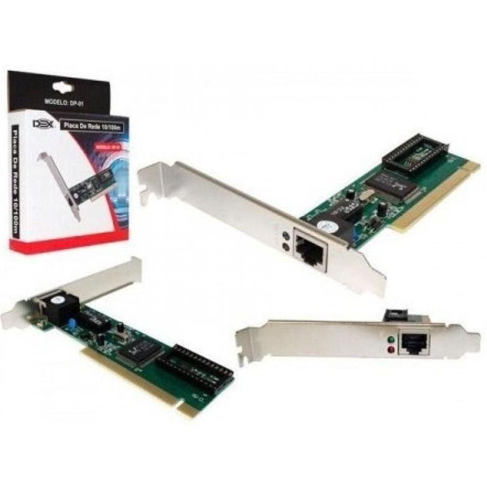 PLACA REDE PCIe 10/100/1000 CHIPS REALTEK RTL8111C DP-02 DEX