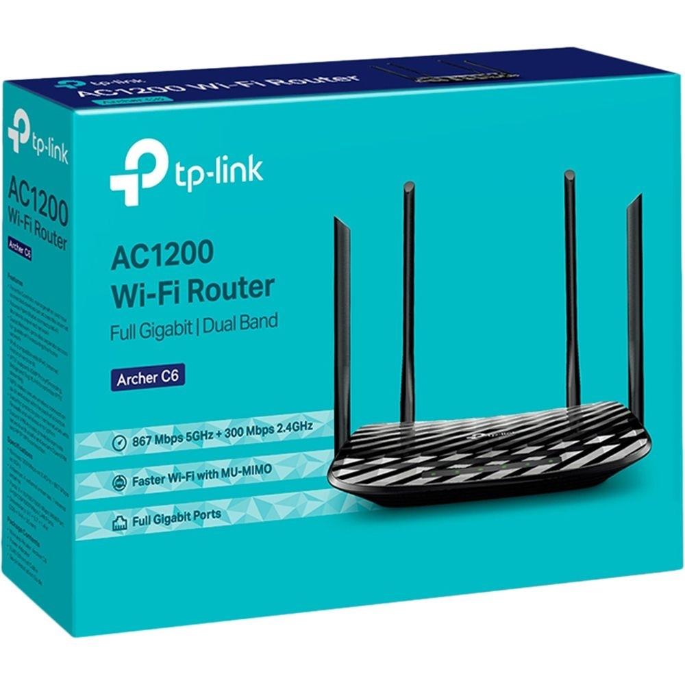 Roteador Wireless TP-Link Gigabit MU-MIMO AC1200 Archer C6