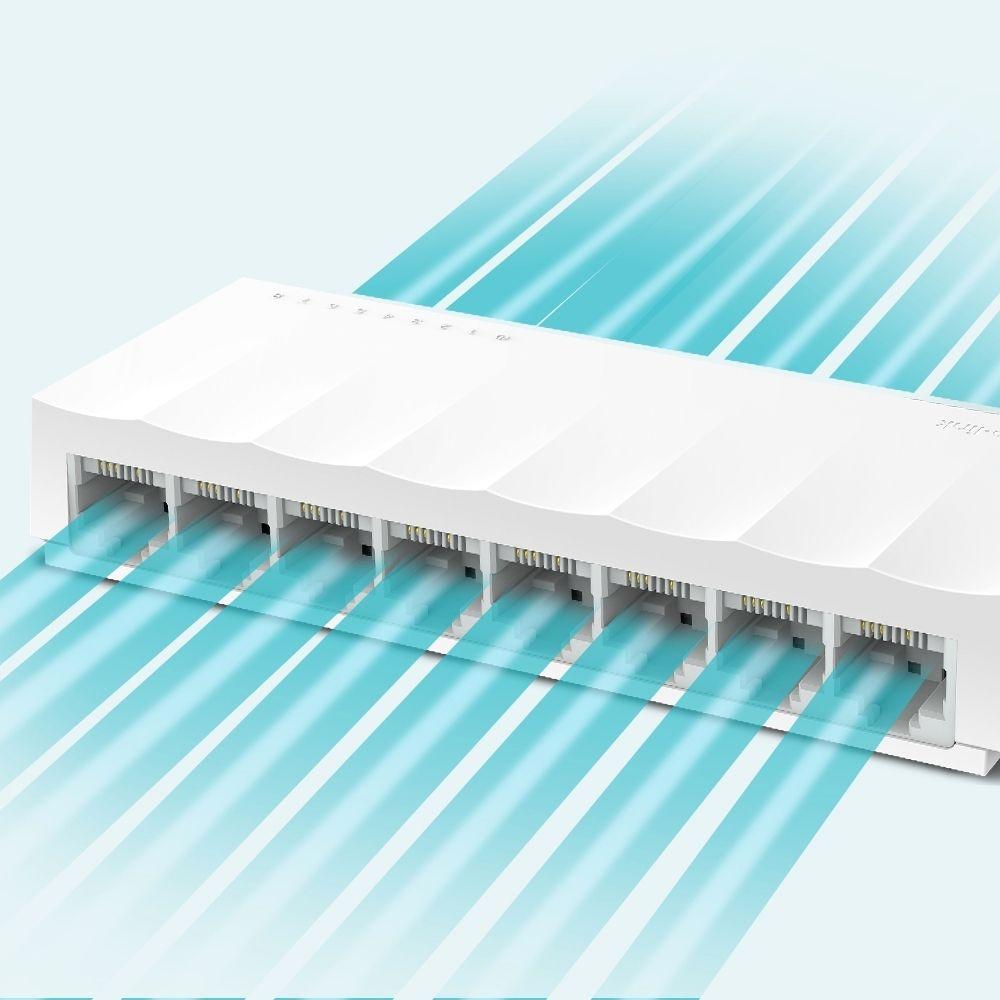 Switch 08 Portas TP-LINK LS1008 Gigabit 10/100MBPS