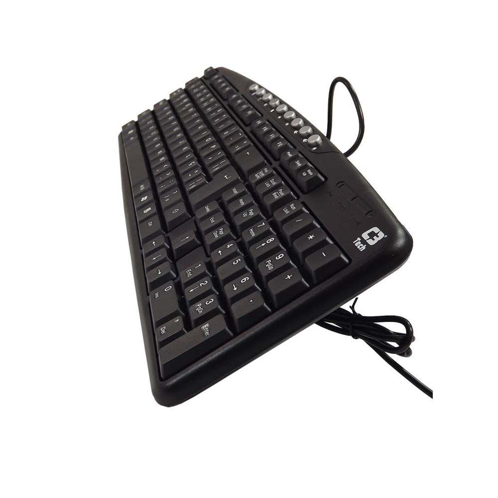Teclado Multimídia ABTN2 USB C3tech KB-2237 Preto