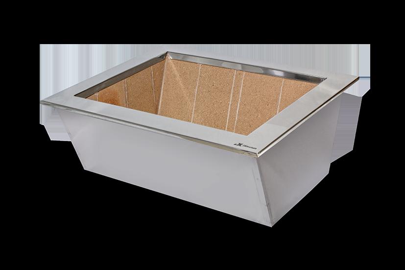 Caixa braseiro inox inox  disponível nas medidas (60x50 , 70x52 , 80x50)