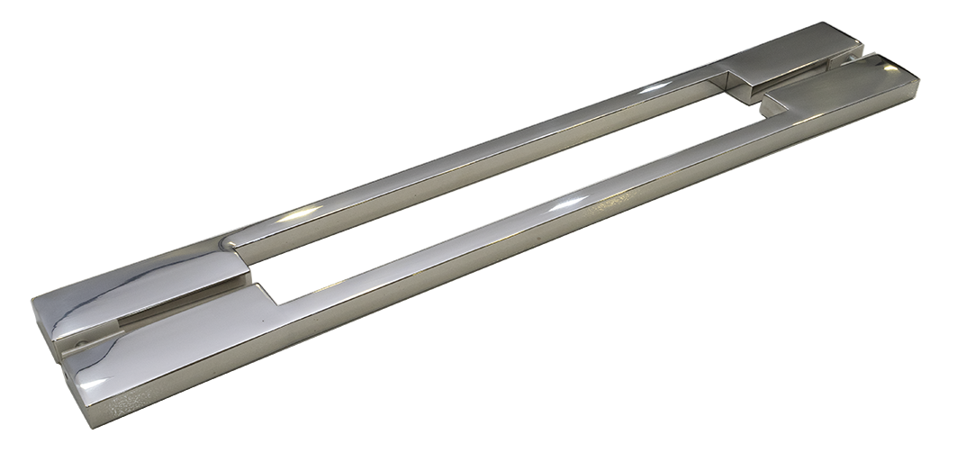 Puxador Porta Madeira/Vidro 100% Inox 304 Polido 30 CM.