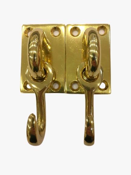 Gancho para rede Latão dourado