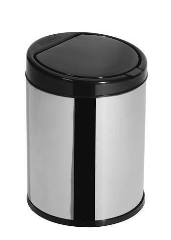 Lixeira click 3 litros inox com tampa Preta